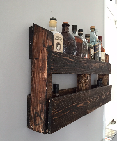 Handmade Reclaimed Pallet Wood Wall Mount Bar By O Amp E