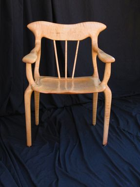 Custom Made Curly Maple Lyre Chair