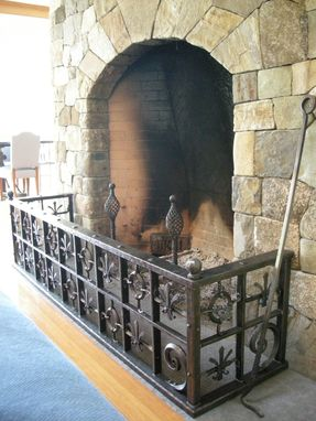 Custom Made Old World Style Fireplace Guard