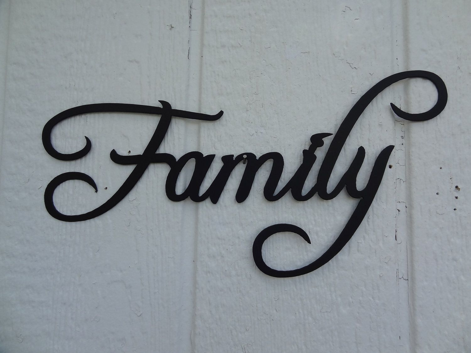 Metal Family Wall Decor Hand Made Family Word Decorative Metal Wall Art Home Decorsay