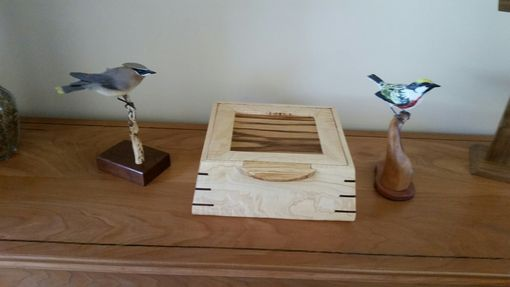 Custom Made Curly Maple And Zebra Wood Cremation Urn
