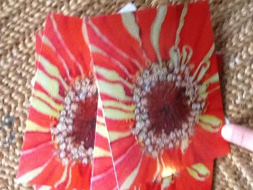 Custom Made Orange Zinnia Closeup Notecard Set