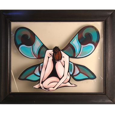 Custom Made Crouched Faerie Print Framed