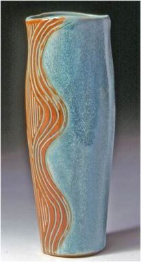 "Custom Made Oval Vase Tall ~ 12"" High ~ $63"