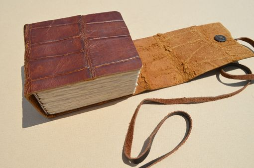 Custom Made Handmade Bound Alligator Hide Book Sculpture Coffee Table Book (478)
