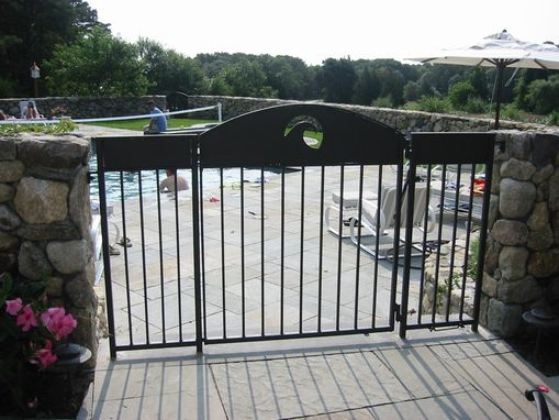 Custom Made Custom Wrought Iron Pool & Garden Gates