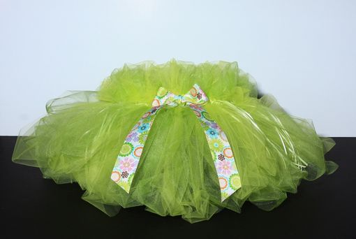 Custom Made Pastel Green And Yeoow Tutu