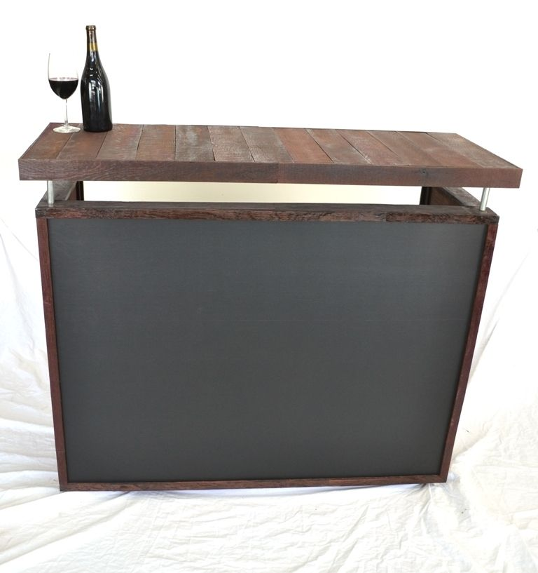 Hand Crafted Rostrum Wine Barrel Stave Bar Hostess Stand