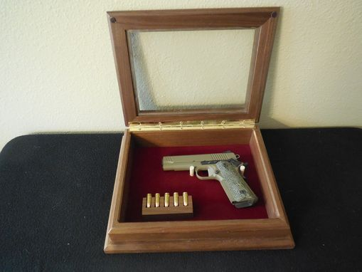 Custom Made Pistol Display Case
