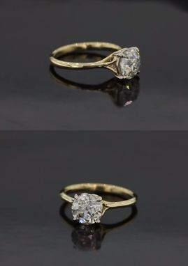 Buy A Custom Scroll Solitaire Engagement Ring With