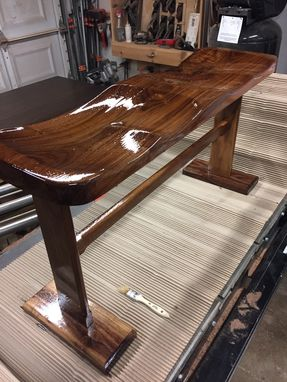 Custom Made Double Seater Walnut Bench