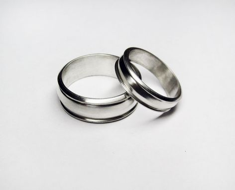 Custom Made The Definitive Silver Wedding Band Set