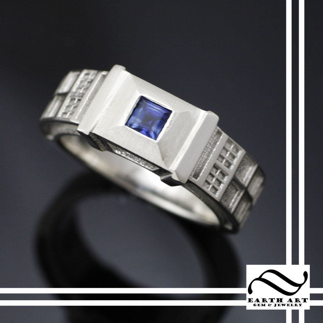 Tardis Ring In Sterling Silver