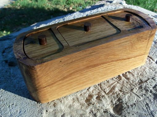 Custom Made Repurposed Three-Drawer Box In Oak