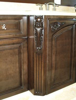 Custom Made Hand Carved Cabinet Design