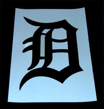 Custom Made Detroit Logo Mylar Stencil - Laser Cut
