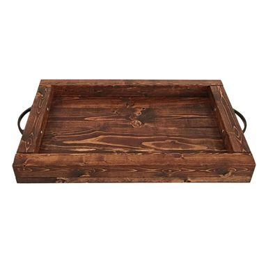Custom Made Serving Tray — Solid Wood Decorative Functional Food Tray