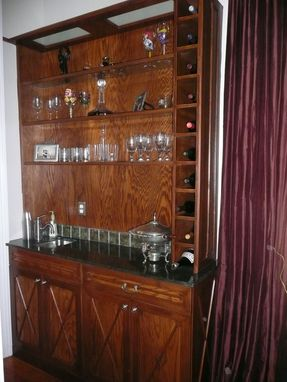 Custom Made Bookcase Desk And Bar
