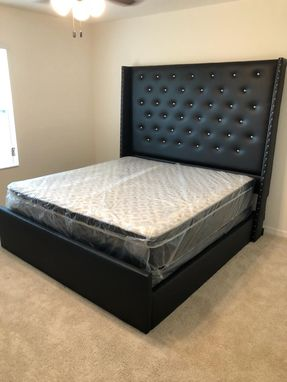 Custom Made Queen Wingback Upholstered Bed 78