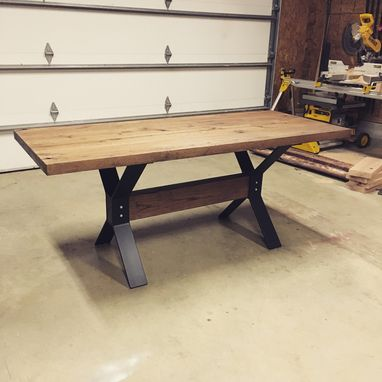 Custom Made X-Frame Dining Table