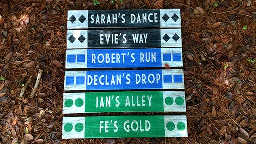 Custom Made Ski Trail Sign | Hiking Trail Sign | Directional Sign | Wall Art