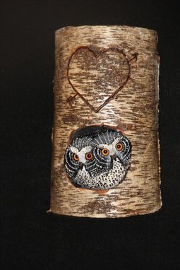 Custom Made Wood Owl Wildlife Carving Sculpture Wall Art