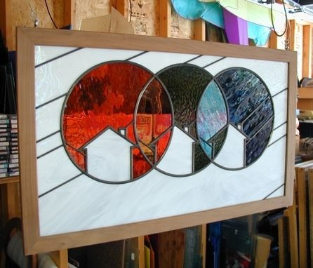 Custom Made Company Logo In Stained Glass