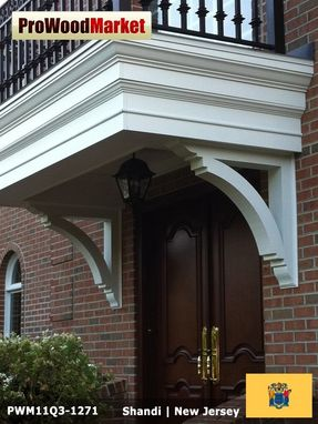 Custom Made Wooden Portico Brackets