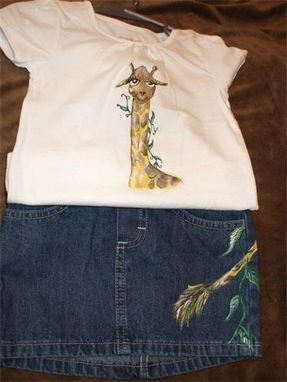 Custom Made Handpainted Giraffe Girl Set