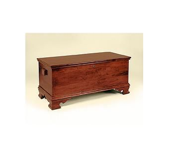 Custom Made Antique Reproduction Blanket Chest In Cherry