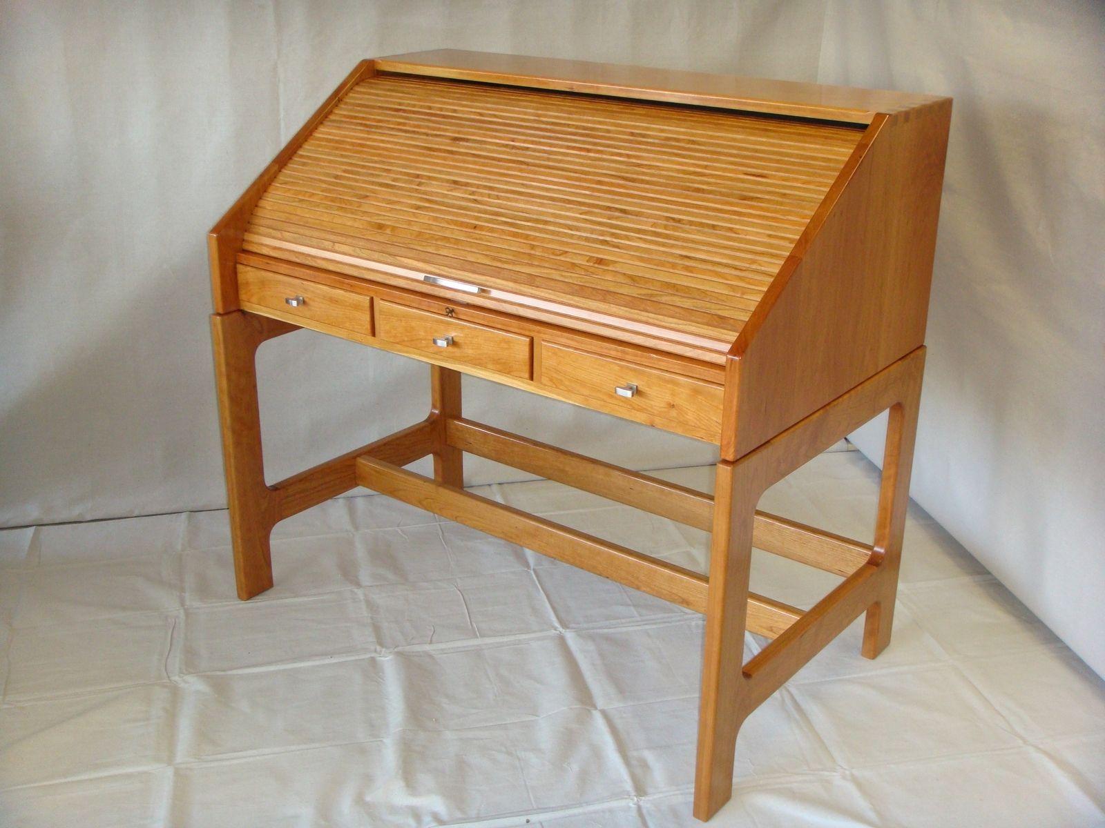 Custom Made Cherry Roll Top Desk