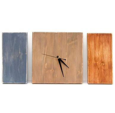 Custom Made Modern Wall Clock 3 Piece Set
