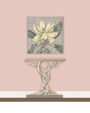 Custom Made 3-D Hand Painted Botanical Panel 24 - 36 Or 48 Inches Square