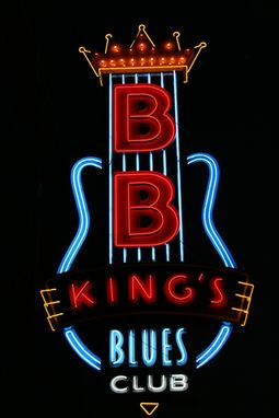 Custom Made Fine Art Photograph Of Neon Signage Of Beale Street