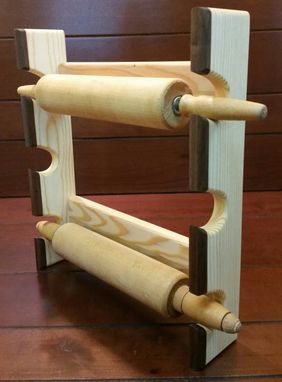Custom Made Rolling Pin Rack With Three Slots - Rolling Pin Rack - Rolling Pin Holder - Rolling Pin Storage