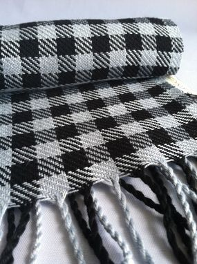 Custom Made Plaid Men's Scarf Woven Bamboo Scarf