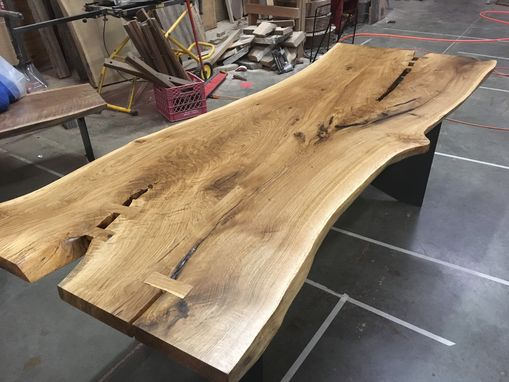 Custom Made Live Edge White Oak Desk