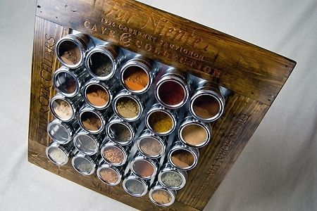 Custom Made Wine Barrel Spice Rack
