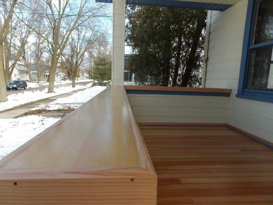 Custom Made Douglas Fir Porch And Rail