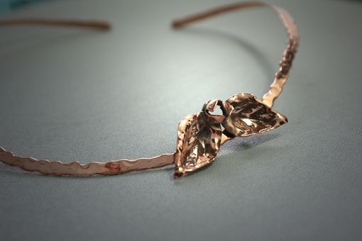 Custom Made Copper Leaf Necklace