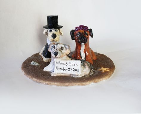 Custom Made Pet Lovers Cake Topper