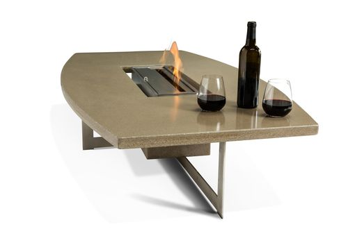 Custom Made Concrete Fire Pit Table