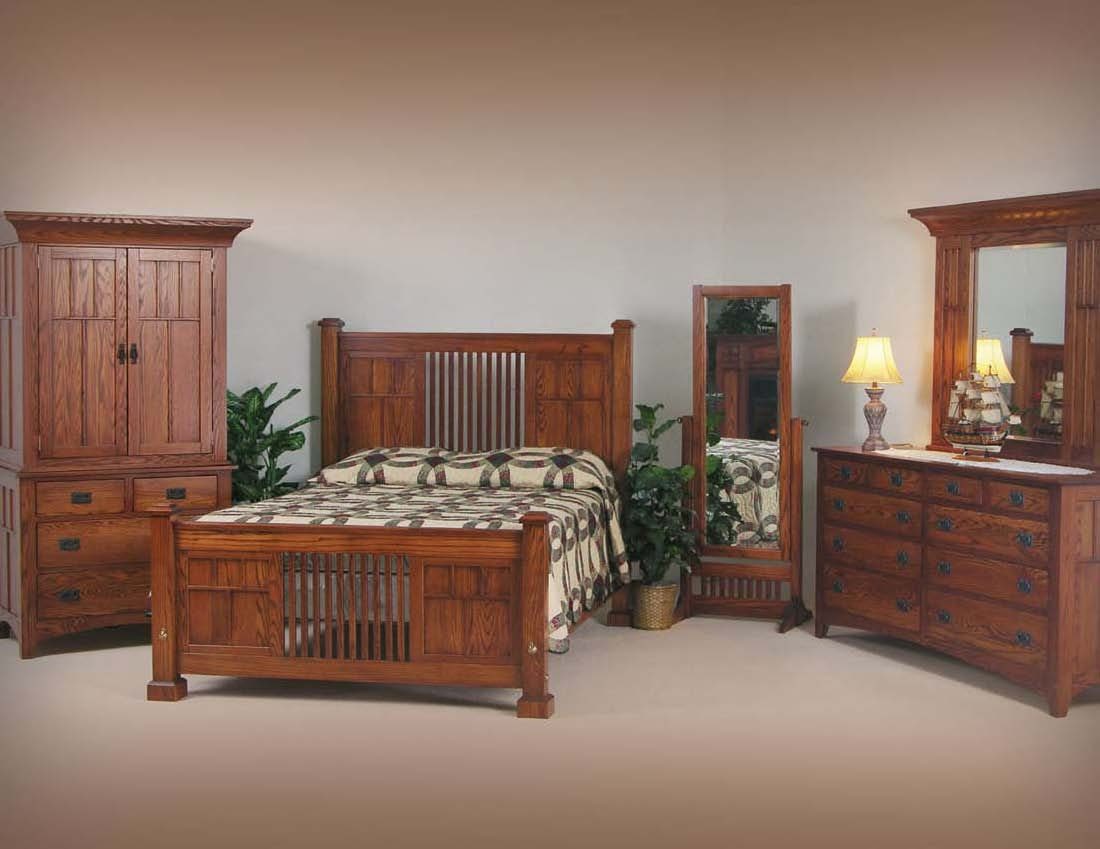 Custom Made Mission Bedroom Furniture by Heartwood Furniture ...