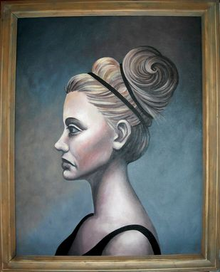 Custom Made Zosime (Likely To Survive)-Acrylic On Canvas Board Portrait, Framed