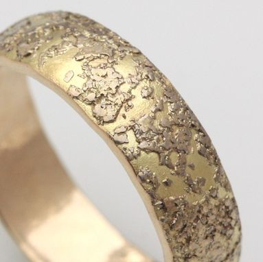 Custom Made 18k White Gold And 14k Yellow Gold Wedding Band