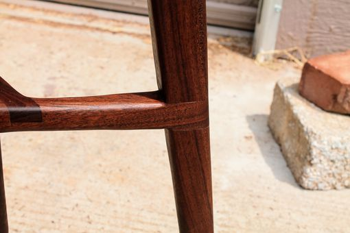 Custom Made Solid Walnut Wood Screw Bar Stool