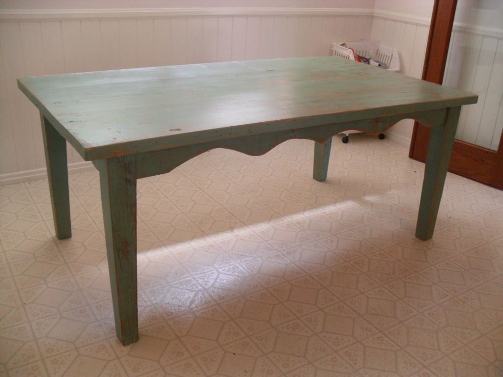 Hand Made Reclaimed Wood Dining Table Custom Made In The