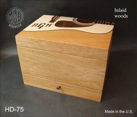 Custom Made Handcrafted Customized Inlaid Humidor With Free Shipping.  Hd75-1