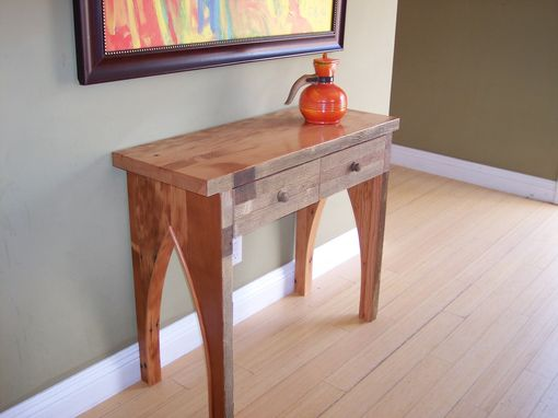 Custom Made Wood Hallway Table, Console From Used Lumber