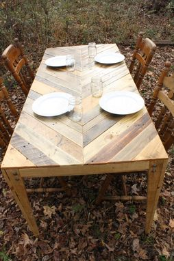 Custom Gathering Table Chevron Style Pallet Wood Table